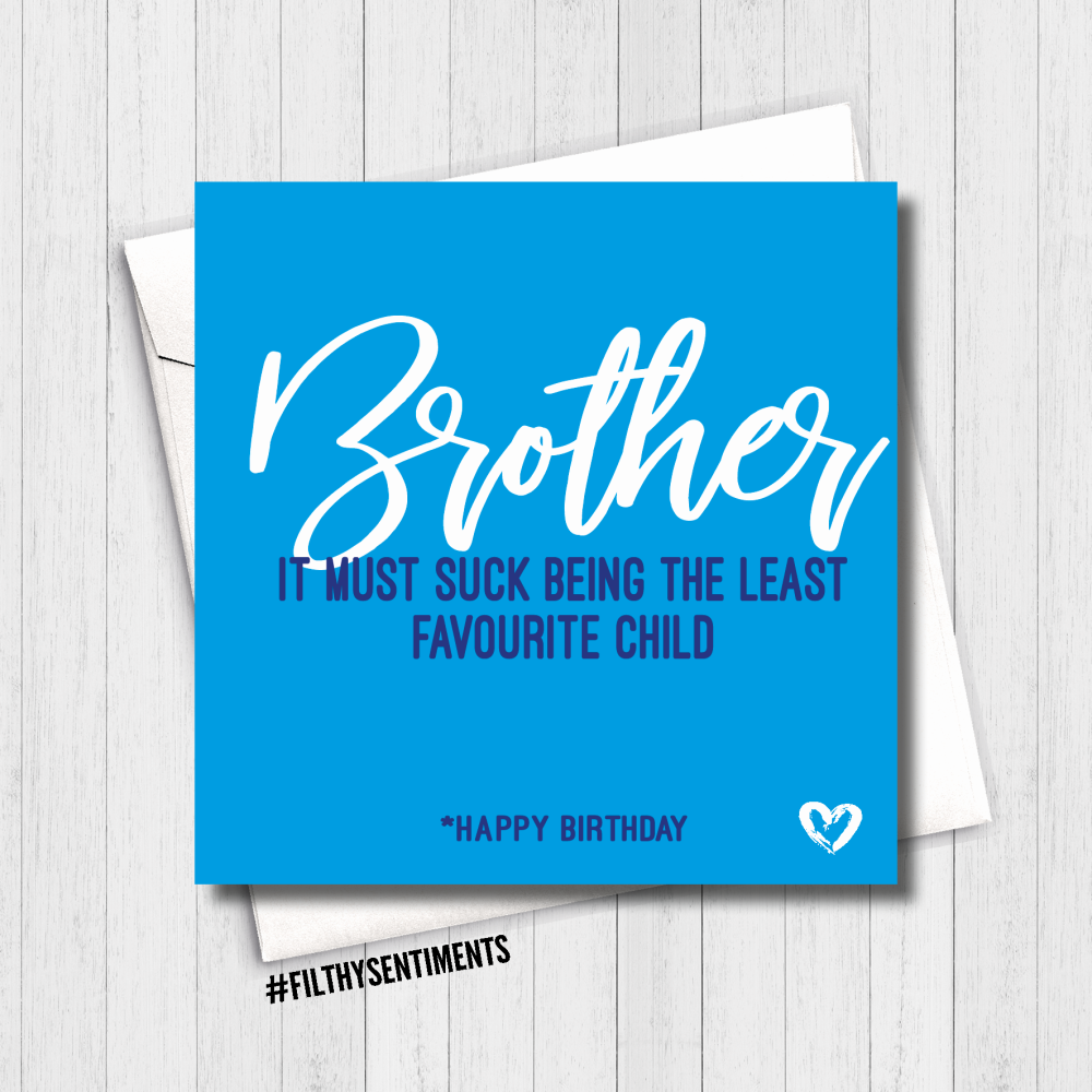 Brother Favourite Child Card - FS475