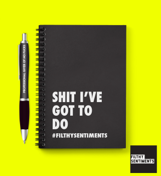 PEN & PAD SET - SHIT TO DO