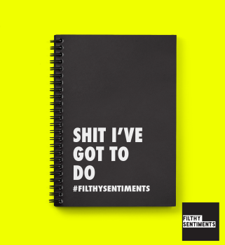 A Wiro Notebook - Shit I've Got To Do - D0005