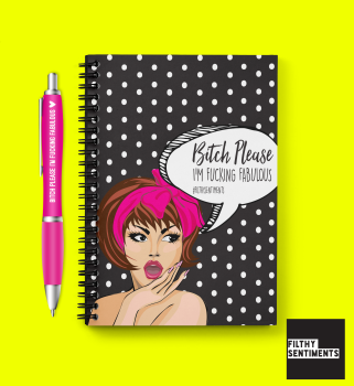 COMIC FABULOUS BITCH - PEN & PAD SET D0011