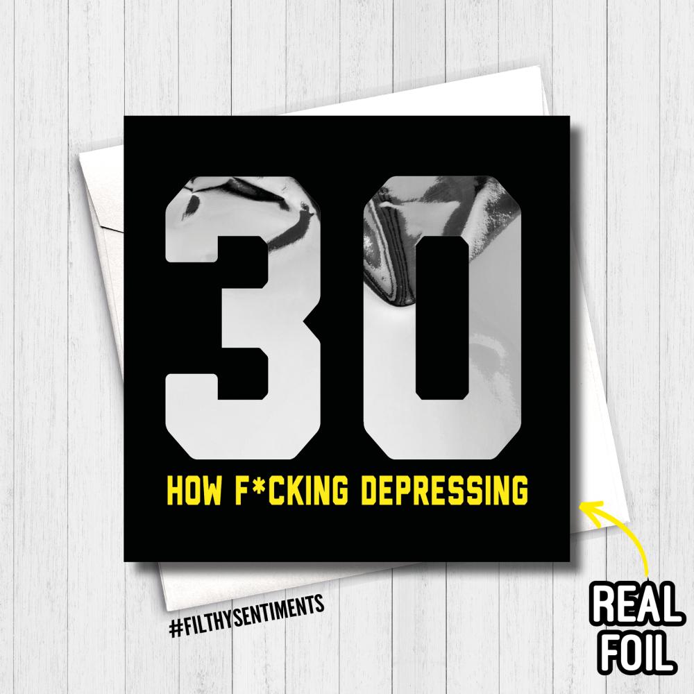 30 DEPRESSING FOIL CARD - FS819 - R0006