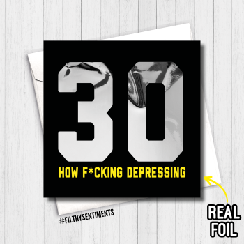 30 DEPRESSING FOIL CARD - FS819 - R0006