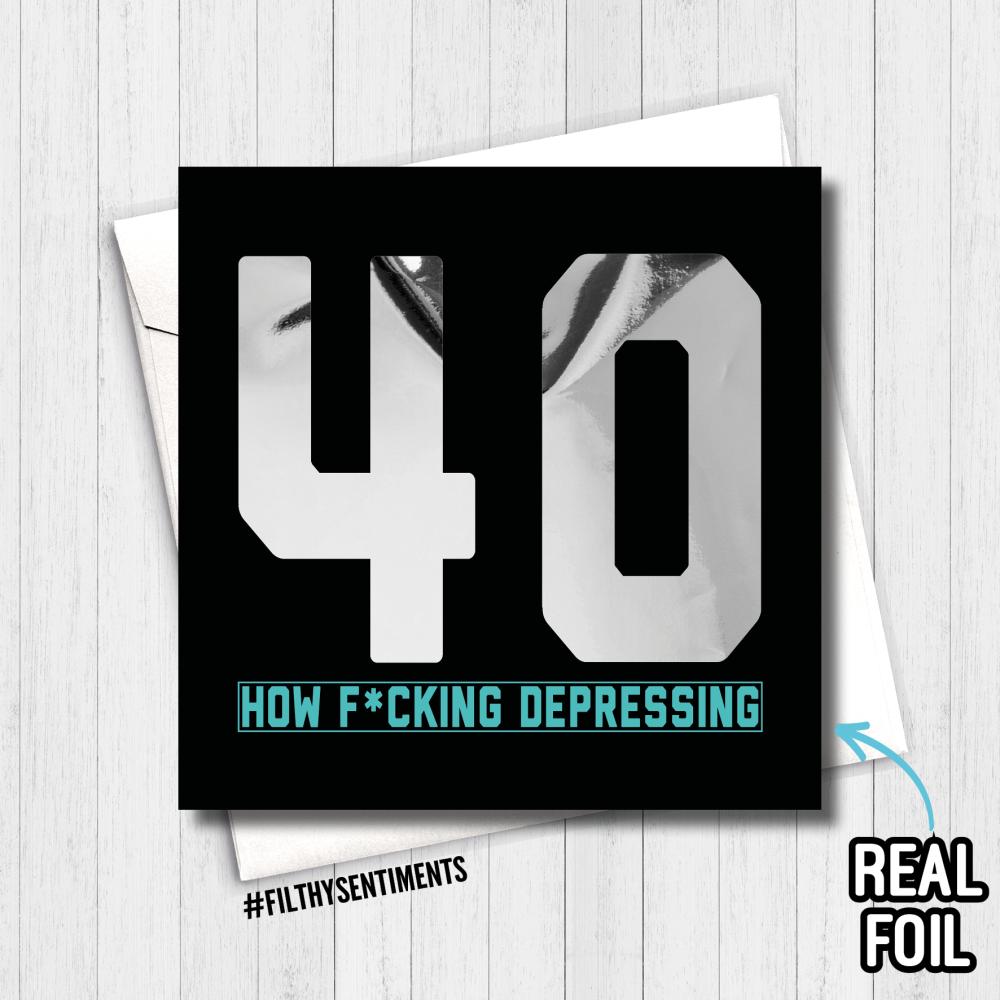 HOW DEPRESSING 40 CARD - FS820 - R0011