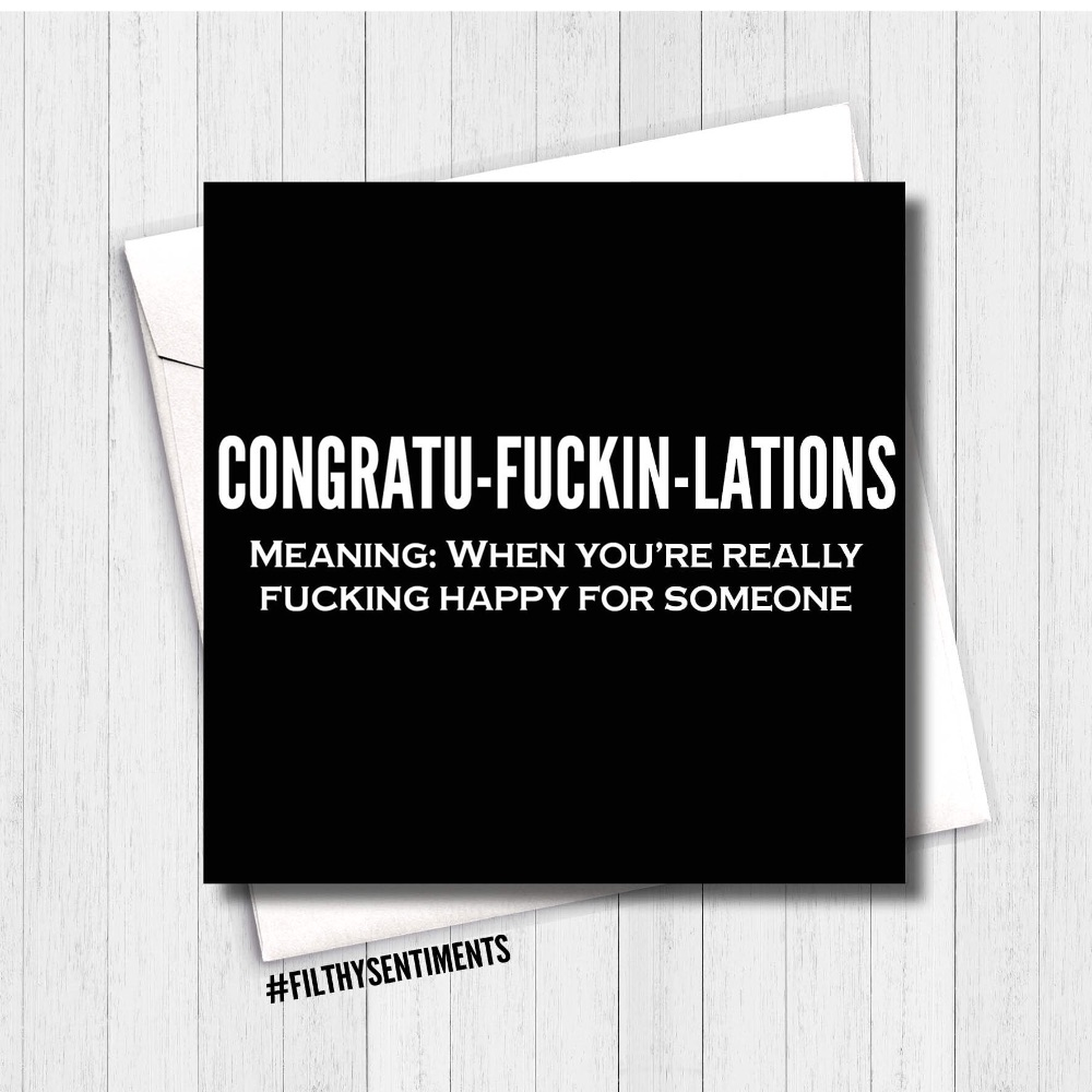 CONGRATULATIONS & WELL DONE