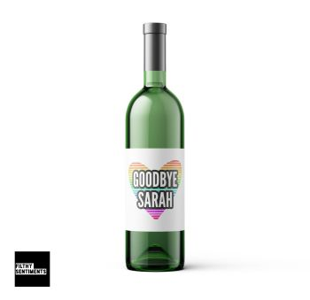 PERSONALISED GOODBYE WINE BOTTLE LABEL - WBL005
