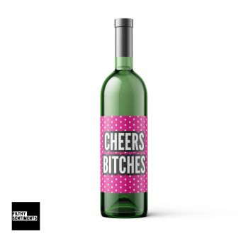 CHEERS PINK WINE BOTTLE LABEL - WBL006 / F00017