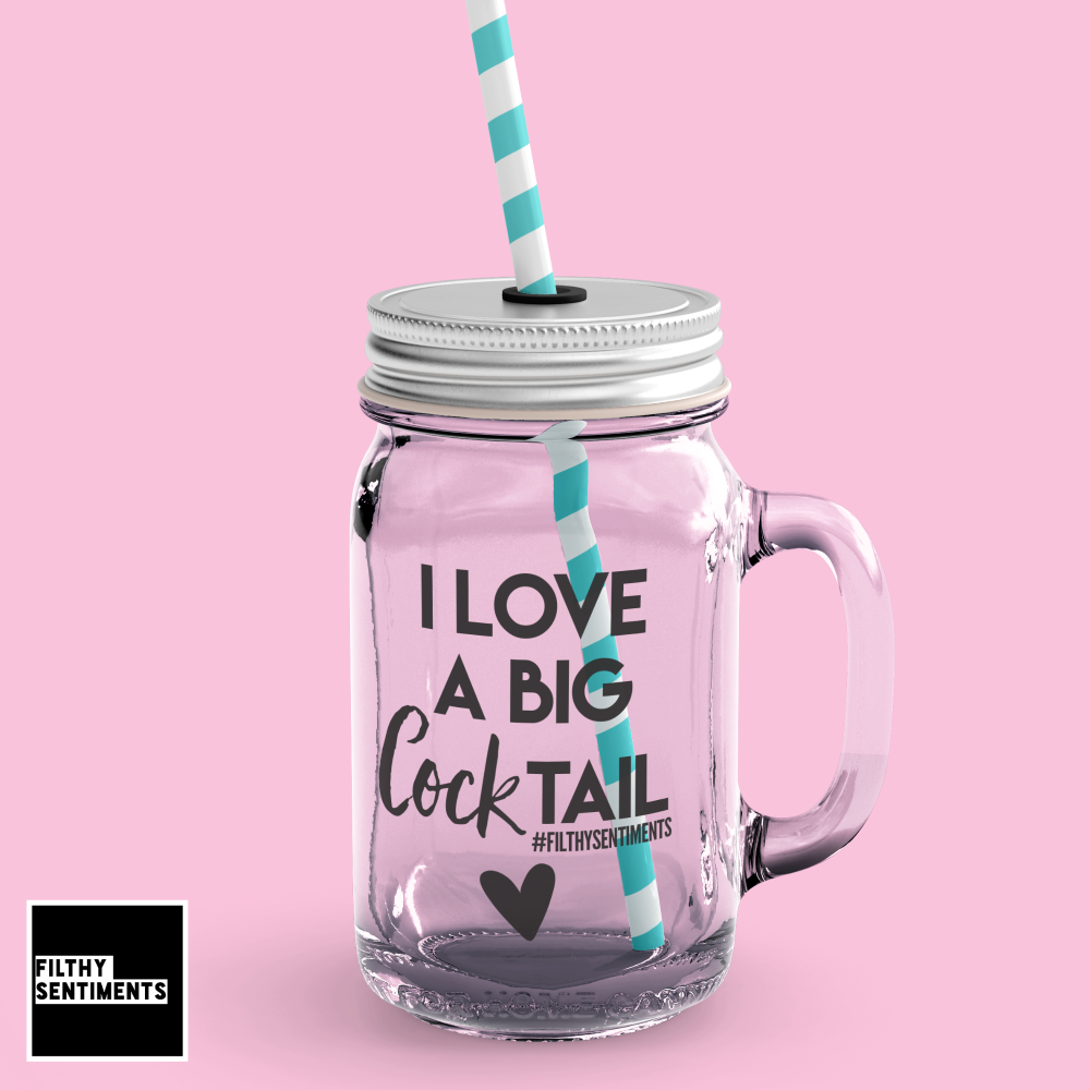 *NEW* COCKTAIL MASON JAR GLASS
