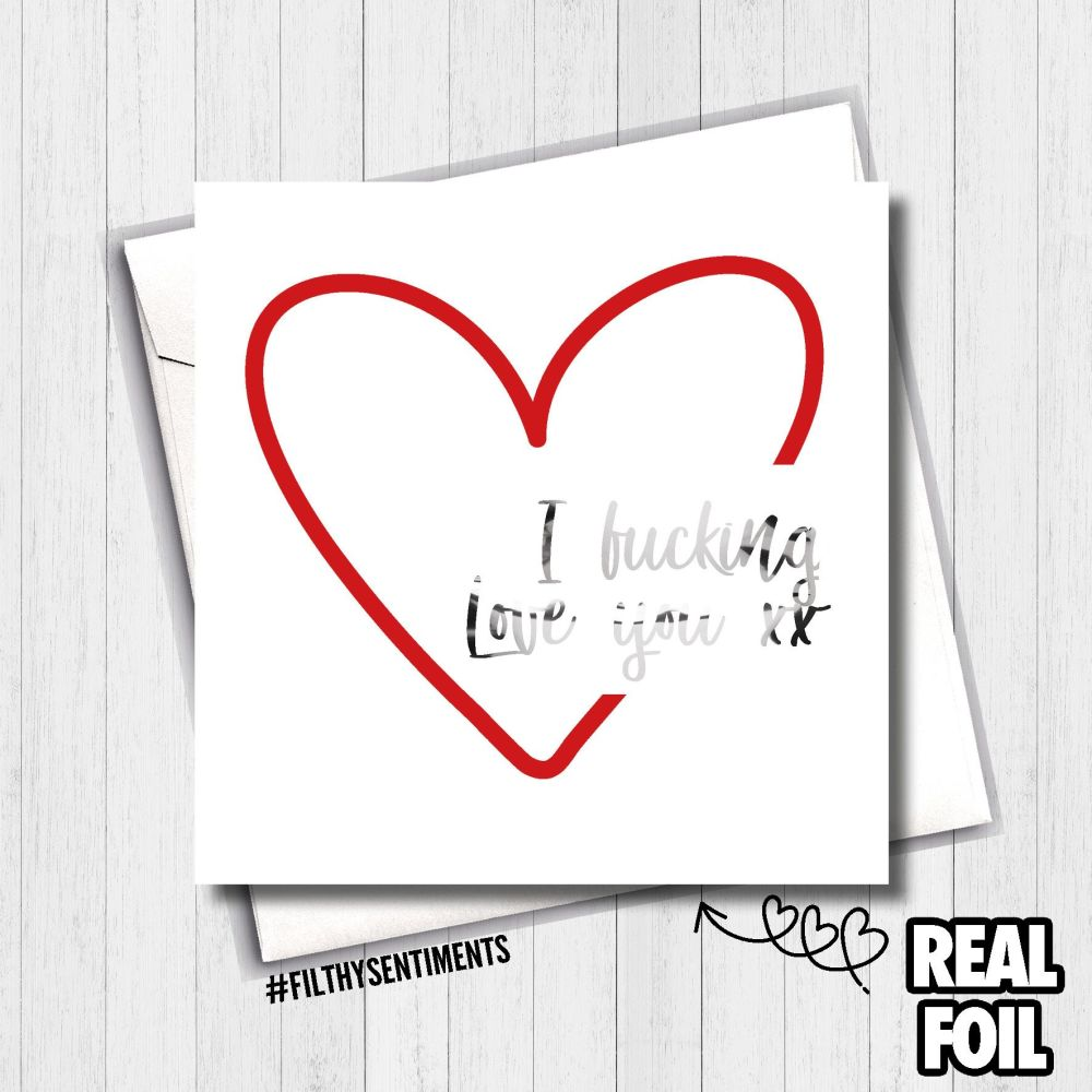 Heart Love Foil Card - FS487