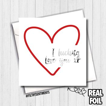 Heart Love Foil Card - FS487 / R0019