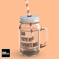 FAVOURITE CUNT PERSONALISED MASON JAR GLASS - 110