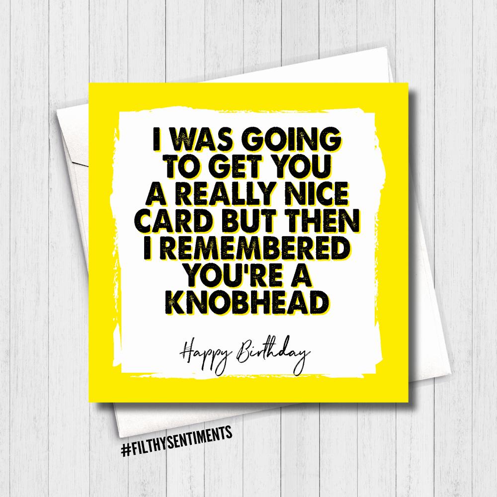 KNOBHEAD Birthday Card - FS490