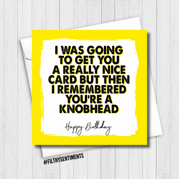 KNOBHEAD BIRTHDAY CARD - FS490