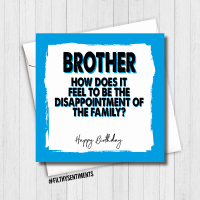 BROTHER DISSAPOINTMENT CARD - FS494