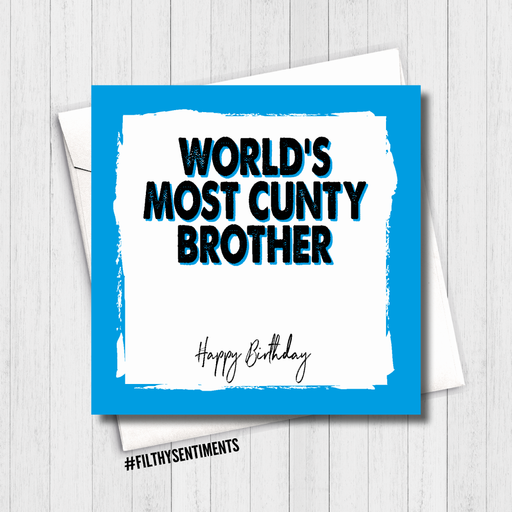 CUNTY BROTHER CARD - FS495