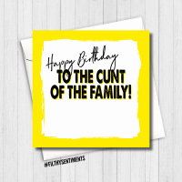 CUNT OF THE FAMILY CARD - FS496