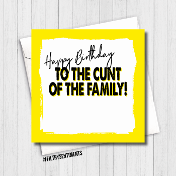 CUNT OF THE FAMILY CARD - FS496/ G0036