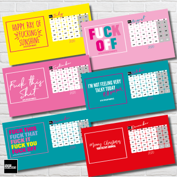 BRIGHT & FUNKY FILTHY SENTIMENTS 2020 DESKTOP CALENDAR