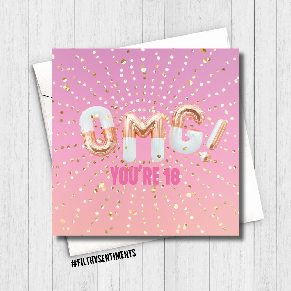 PRETTY OMG 18 CARD - FS502