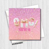 PRETTY OMG 18 CARD - FS602