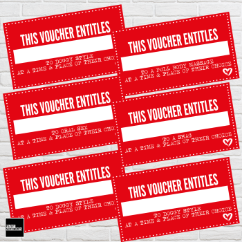 SEX VOUCHER PACK OF 8