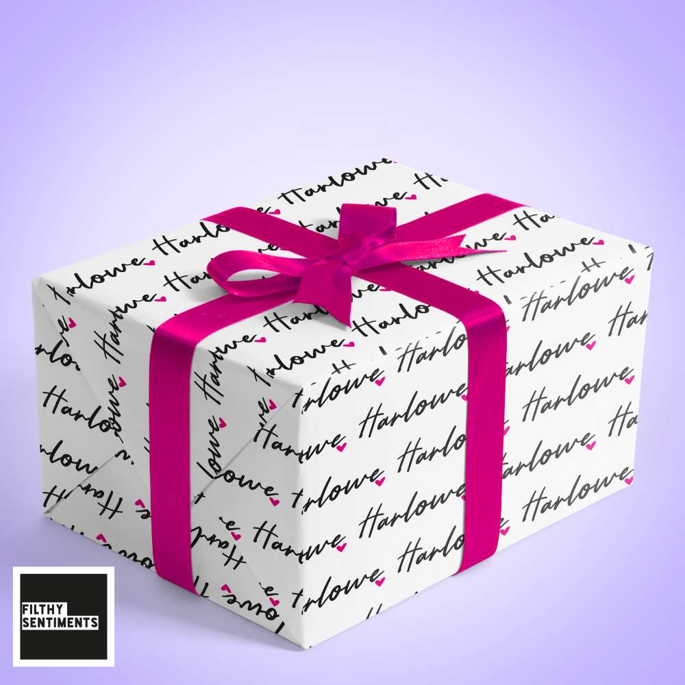 NAME & HEART WRAPPING PAPER - W004