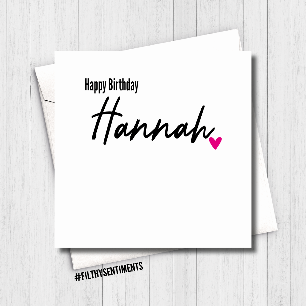 PERSONALISED NAME HEART CARD - FS608