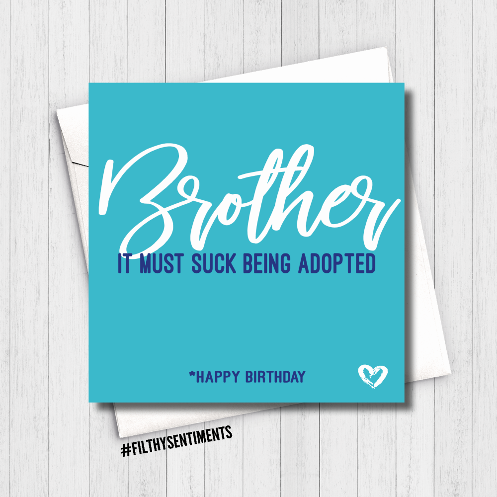 BROTHER ADOPTED CARD - FS622