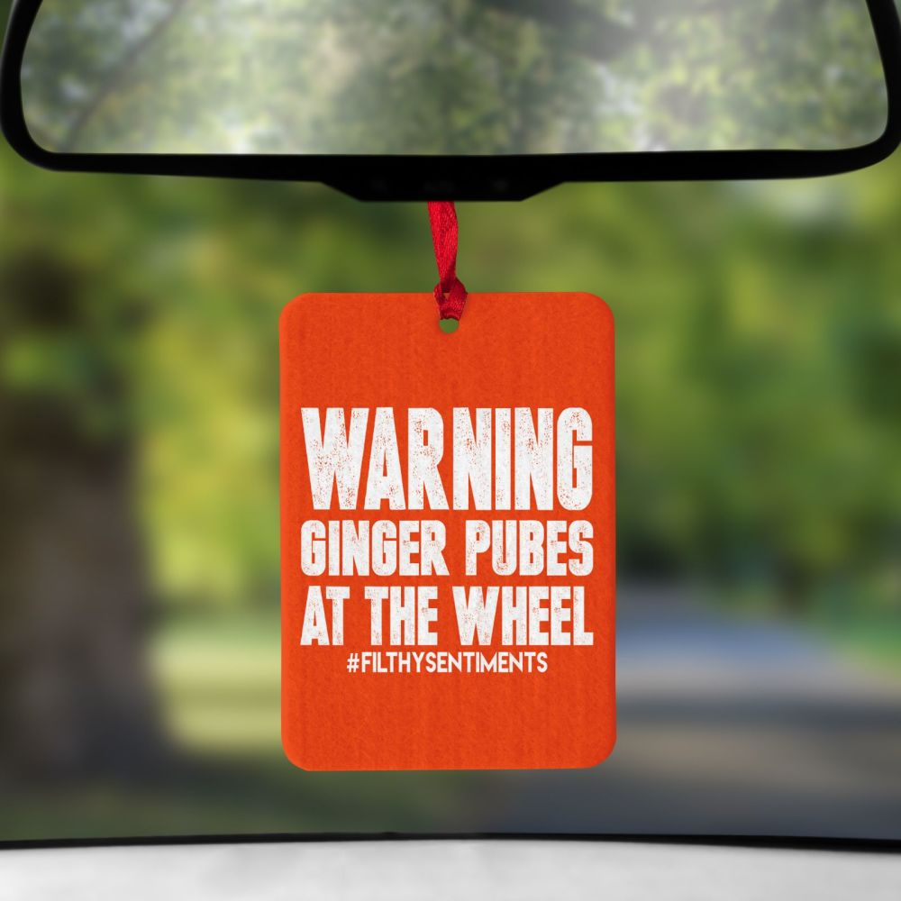 Air Freshener - Ginger Pubes at the wheel - AIR00112