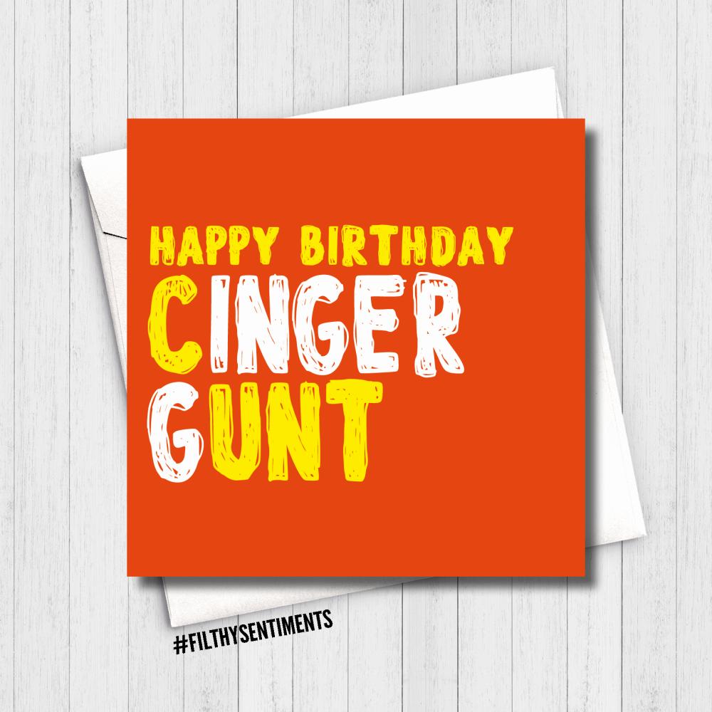 CINGER GUNT GINGER CARD - FS641