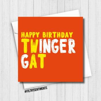 TWINGER GAT GINGER CARD - FS642