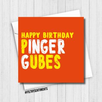 PINGER GUBES GINGER CARD - FS643