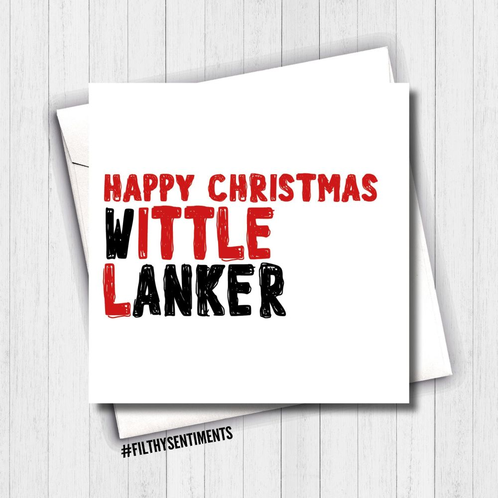 LITTLE WANKER CHRISTMAS CARD - FS646