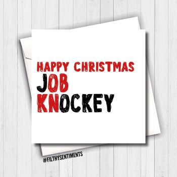 KNOB JOCKEY CHRISTMAS CARD - FS647