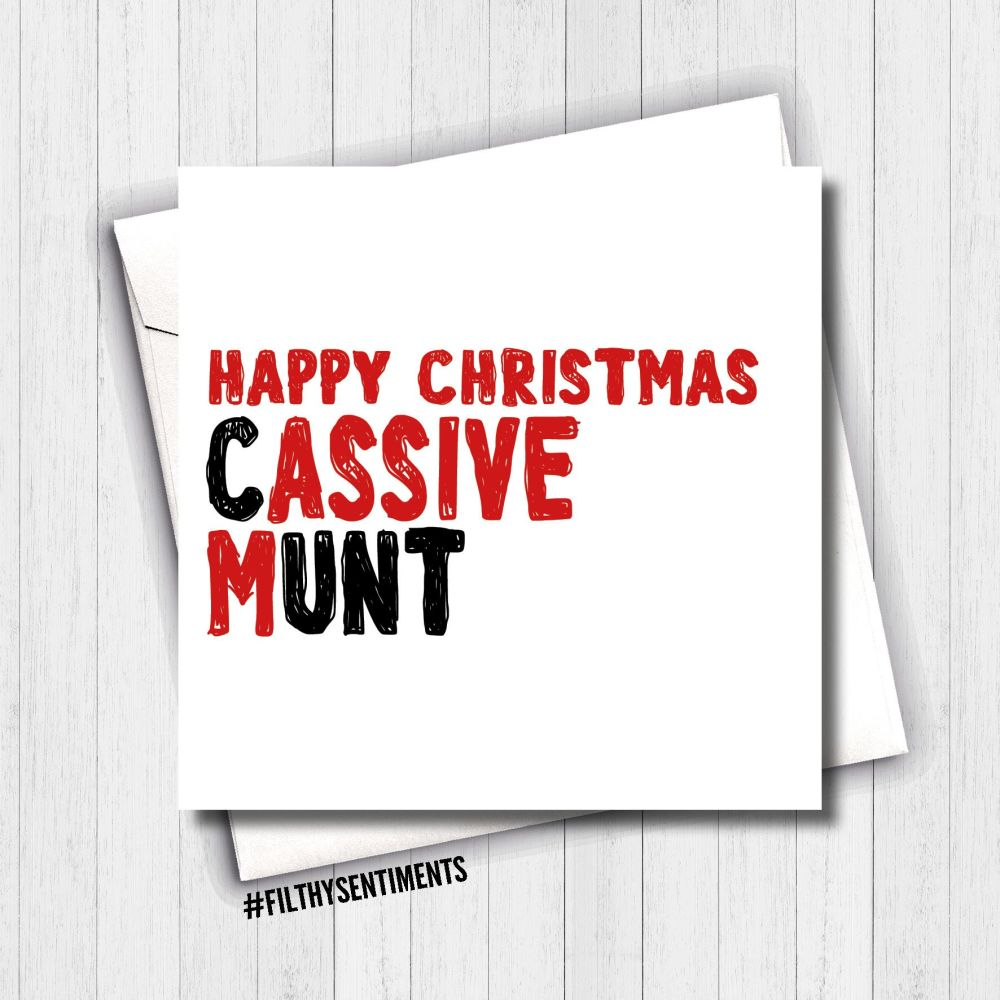 MASSIVE CUNT CHRISTMAS CARD - FS648