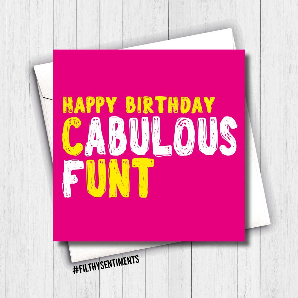 FABULOUS CUNT CARD - FS649