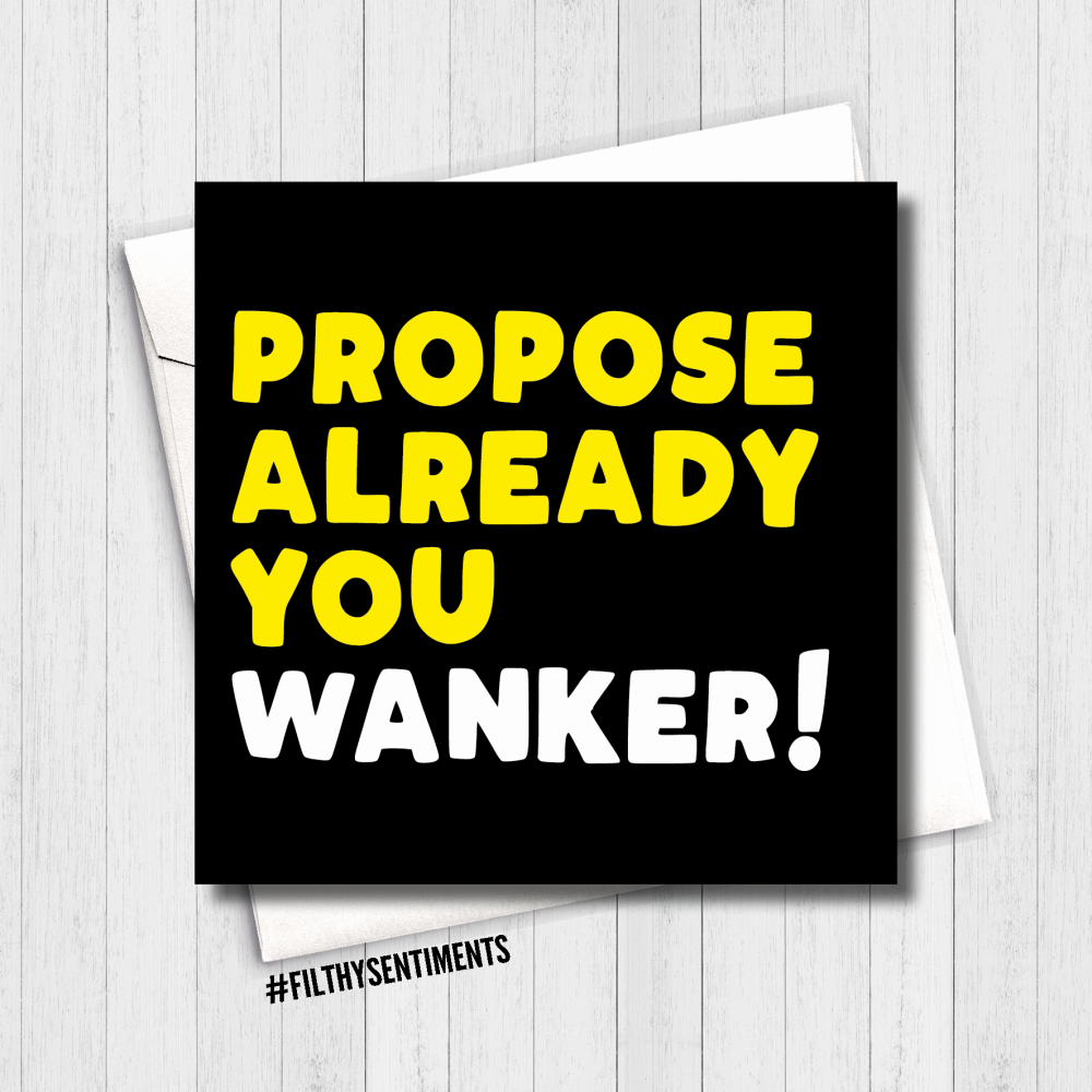 Propose already wanker Card - FS653