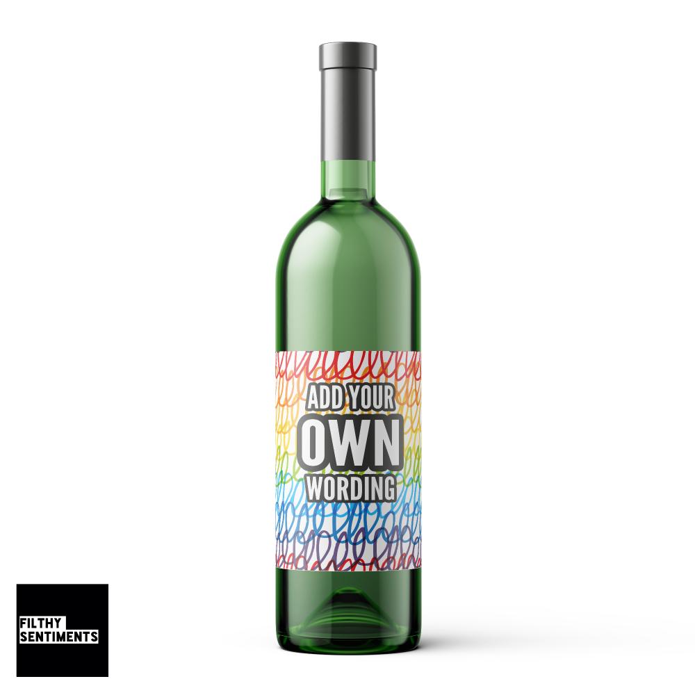 CREATE YOUR OWN WINE BOTTLE LABEL - WBL003