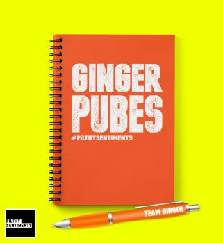 GINGER PUBES NOTEBOOK N016