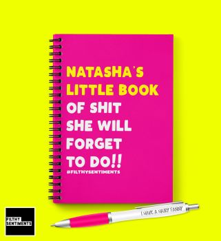 PERSONALISED FORGET NOTEBOOK - N021
