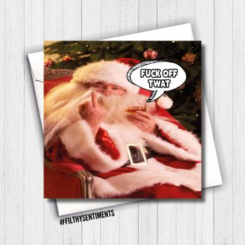 BAD SANTA CHRISTMAS CARD - FS663