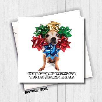 JUMPER CHRISTMAS CARD - FS664