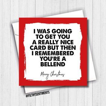 BELLEND CHRISTMAS CARD - FS665
