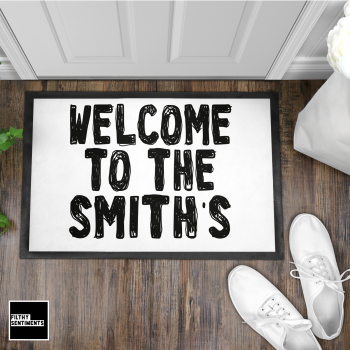 PERSONALISED DOODLE WELCOME DOOR MAT - DM4