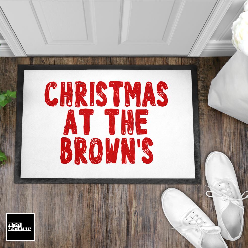 CHRISTMAS DOODLE WELCOME DOOR MAT - DM5