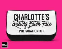 Personalised bitch face preparation make up bag - D00031