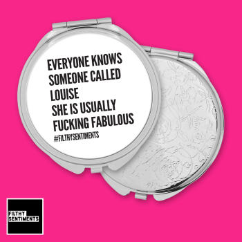 Everyone knows personalised pocket mirror - F00041