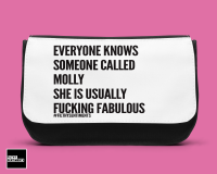 Everyone knows personalised Make up bag - D00031