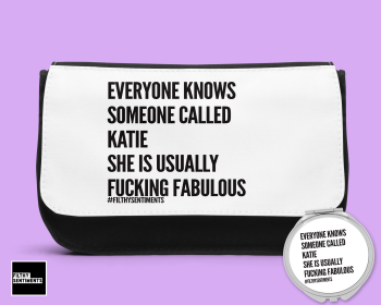 EVERYONE KNOWS PERSONALISED MAKE UP BAG & MIRROR SET MB002