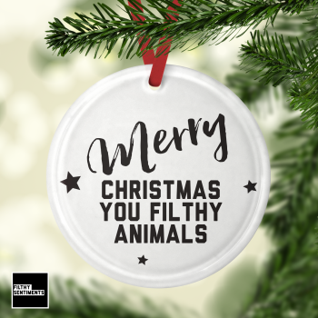 Glass Bauble - FILTHY Animals