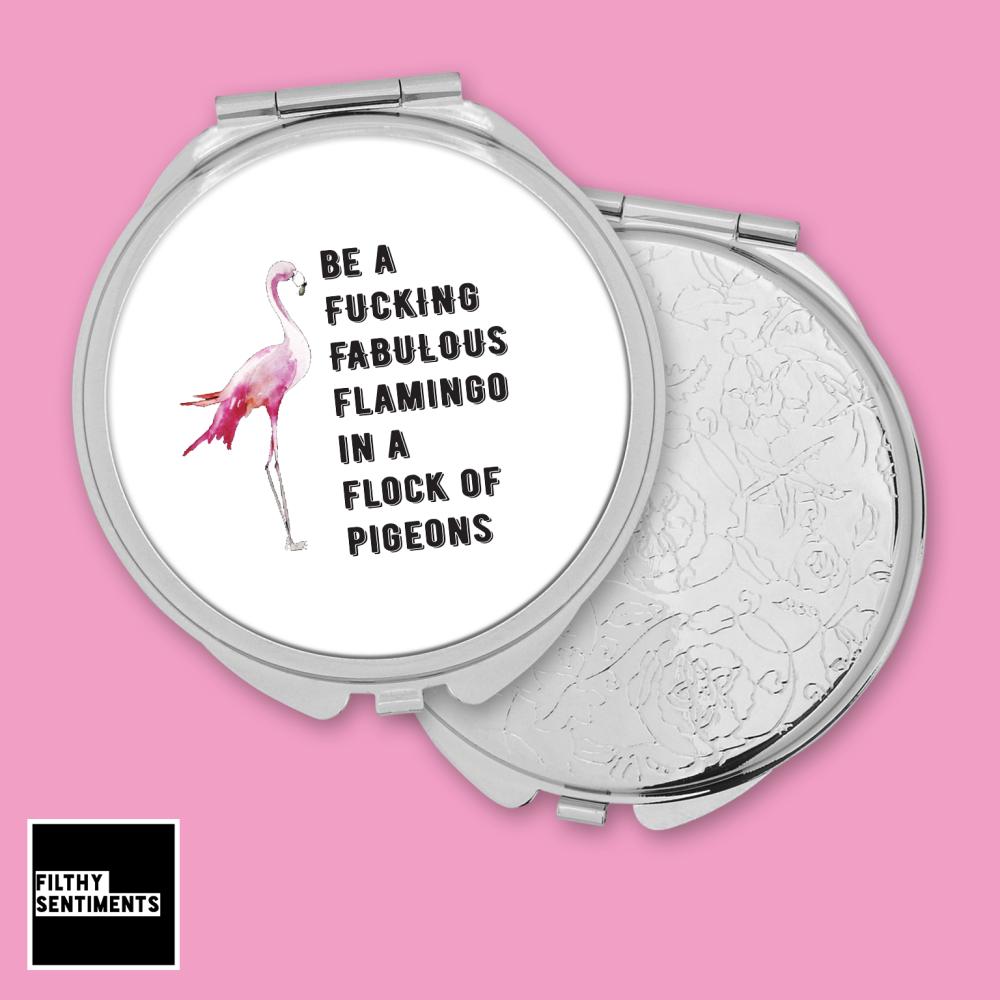 Flamingo pocket mirror - F00045